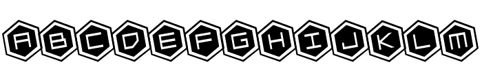 HEX:gon Rotated Font UPPERCASE