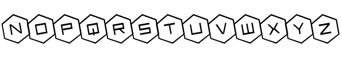 HEX:gon Rotated Font LOWERCASE