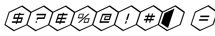 HEX:gon Staggered 2 Italic Font OTHER CHARS