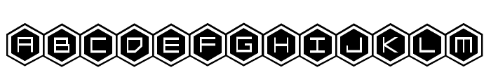 HEX:gon Staggered 2 Font LOWERCASE