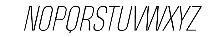 Heading Pro Trial Thin Italic Font UPPERCASE