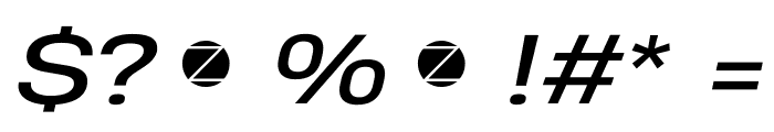 Heading Pro Wide Trial Italic Font OTHER CHARS