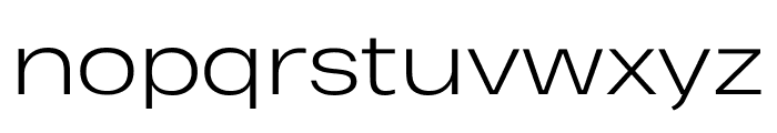 Heading Pro Wide Trial Light Font LOWERCASE