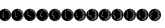 HeadsTorsiButtons Font LOWERCASE