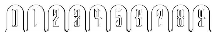 Headstone Regular Font OTHER CHARS