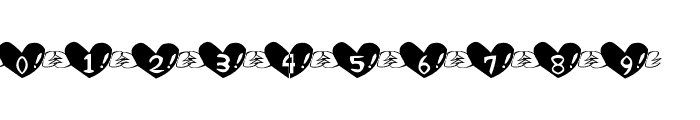 Heart Font Font OTHER CHARS