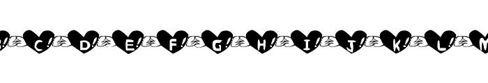 Heart Font Font UPPERCASE