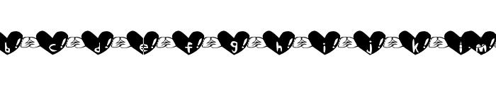 Heart Font Font LOWERCASE