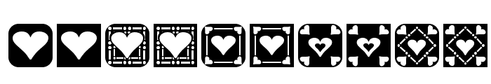 Heart Things 2 Font OTHER CHARS