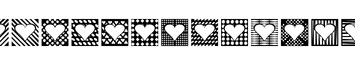 Heart Things 2 Font UPPERCASE
