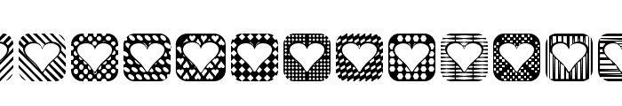 Heart Things 2 Font LOWERCASE