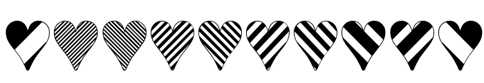Heart Things 3 Font OTHER CHARS