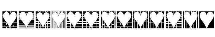 Heart Things 3 Font UPPERCASE