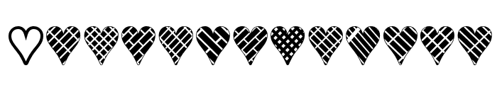 Heart Things 3 Font LOWERCASE