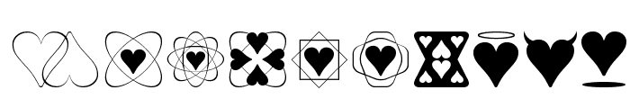 Heart Things Font OTHER CHARS