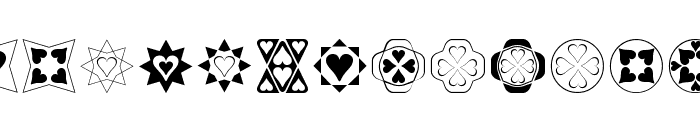 Heart Things Font UPPERCASE