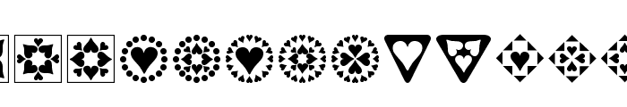 Heart Things Font LOWERCASE