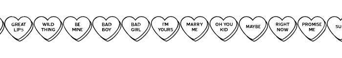 Heart of the Matter JL Font UPPERCASE