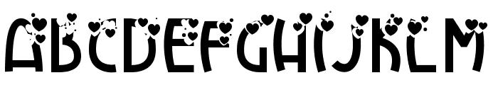 HeartExplosion Font UPPERCASE