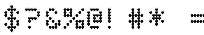 HeartMatrixed Font OTHER CHARS