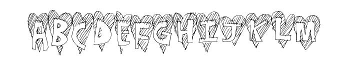 HeartStripe Font UPPERCASE