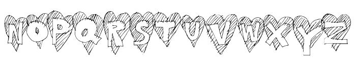 HeartStripe Font LOWERCASE