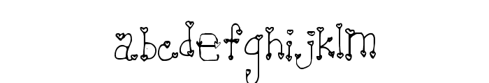 Heartache Teen Crush Font LOWERCASE