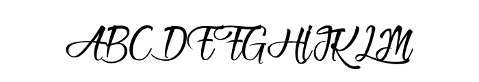 Heartbeat in Christmas Font UPPERCASE