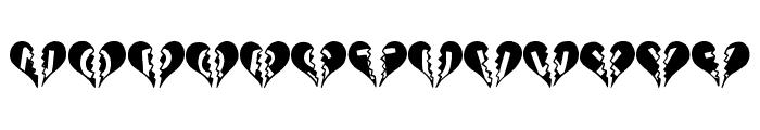 Heartbroken Font UPPERCASE