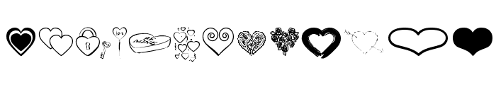 Hearts BV Font UPPERCASE