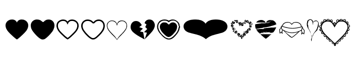 Hearts BV Font LOWERCASE