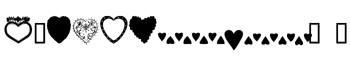 Hearts Galore Font OTHER CHARS