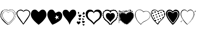 Hearts Galore Font UPPERCASE
