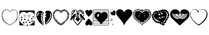 Hearts Galore Font LOWERCASE