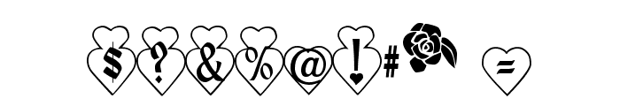 Hearts and Flowers Font OTHER CHARS