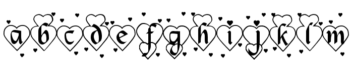 Hearts and Flowers Font LOWERCASE
