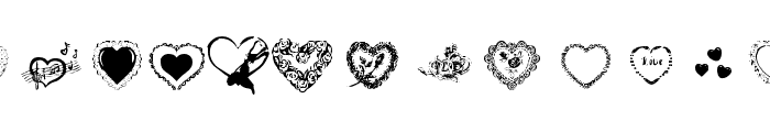 Hearts by Darrian Font UPPERCASE