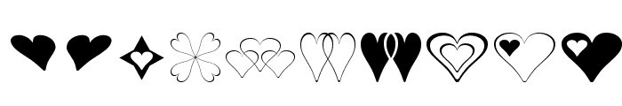Hearts for 3D FX Font OTHER CHARS