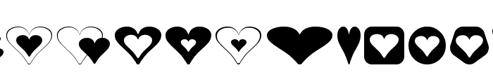 Hearts for 3D FX Font LOWERCASE