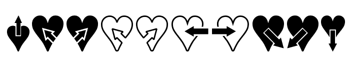 Hearts n Arrows Font OTHER CHARS