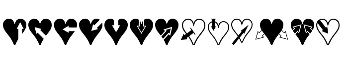 Hearts n Arrows Font UPPERCASE