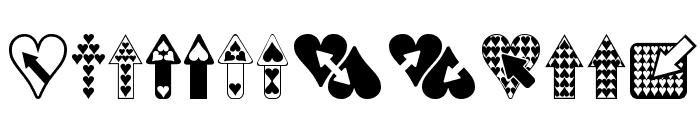 Hearts n Arrows Font LOWERCASE