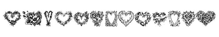 Hearts of Lime Font UPPERCASE