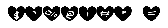 Hearty_Geelyn_Edits_Calligraphy_Brush_1 Font OTHER CHARS
