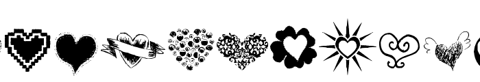 Heartz Font UPPERCASE