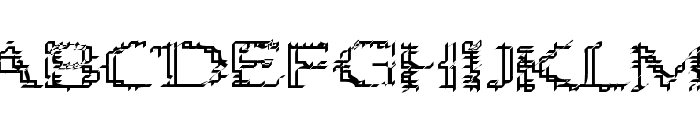 Heat Sinks 386 Font UPPERCASE