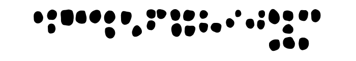 Heaven the Braille Font LOWERCASE