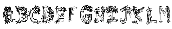 Heavenly Rooted Font UPPERCASE