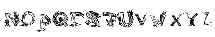 Heavenly Rooted Font LOWERCASE