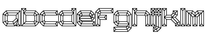 Heavy Bevel [BRK] Font LOWERCASE